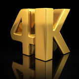 4K letters Royalty Free Stock Photos