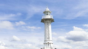 4k Lighthouse on Lac Leman in Geneva, Switzerland stock footage