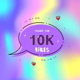10k likes thank you. Vector illustration. 10k likes thank you card. Template for social media. Vector illustration Stock Illustration