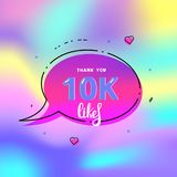 1k likes thank you. Vector illustration. 1000 likes thank you card. Template for social media. Vector illustration Vector Illustration