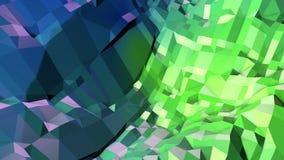 4k limpian el fondo animado geométrico en el lazo, estilo polivinílico bajo Animación inconsútil 3d con colores modernos de la pe ilustración del vector