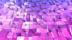 4k limpian la animación polivinílica baja 3d en lazo Fondo inconsútil 3d en el estilo geométrico moderno bajo polivinílico con pe almacen de metraje de vídeo