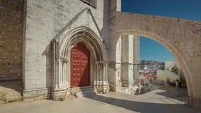 4k Lisbon Portugal Carmo Archaeological Museum timelaspe hyperlapse. Beautiful stock video