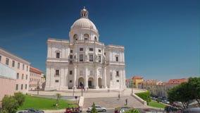 4k Lisbon Portugal Church of Santa Engraciae motion timelaspe National pantheon. Hyperlapse UHD summer sun bright vacations stock footage