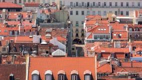 4k Lisbon Portugal Rossio square motion timelaspe hyperlapse UHD city summer. 4k Lisbon Portugal motion timelaspe Rossio square city centre hyperlapse UHD summer stock footage