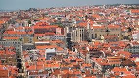 4k Lisbon Portugal Rossio square motion timelaspe hyperlapse UHD city summer. 4k Lisbon Portugal motion timelaspe Rossio square city centre hyperlapse UHD summer stock video