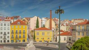 4k Lisbon street Portugal motion timelaspe hyperlapse UHD city summer. 4k Lisbon street Portugal motion timelaspe square city centre hyperlapse UHD summer sun stock footage
