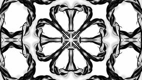 4k loop animation with black and white ribbons are twisting and form complex structures as kaleidoscopic effect. 55. 4k loop animation with black and white royalty free illustration