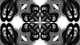 4k loop animation with black and white ribbons are twisting and form complex structures as kaleidoscopic effect. 38. 4k loop animation with black and white vector illustration
