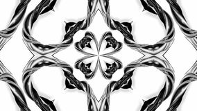 4k loop animation with black and white ribbons are twisting and form complex structures as kaleidoscopic effect. 67. 4k loop animation with black and white royalty free illustration