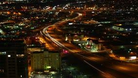 4K Luchttimelapse van UltraHD de snelwegen van van San Antonio, Texas bij nacht stock footage