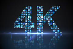 4k made of digital screens in blue Royalty Free Stock Images