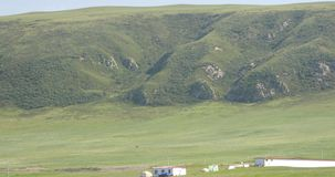 4k majestic top plateau of the mountain,QingHai,China. stock video footage