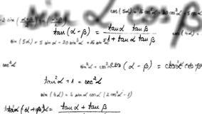 4k - Maths trygonometrii równania pętla z alfa matte ilustracja wektor