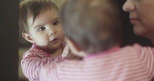 4K matka i dziewczynka zbiory wideo