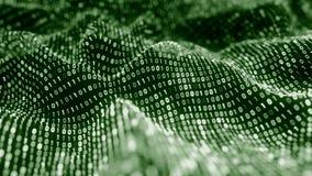 4K Matrix binaire abstrait banque de vidéos