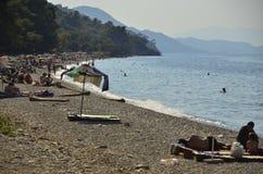 ¼ K Menderes Deltası Milli Parkı Turkiet för Dilek Yarımadası-bà ¼yà Royaltyfri Bild