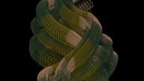 4k Metal chain,python zipper,Medusa hair,tentacle,monsters snake skin,wire rope. stock video
