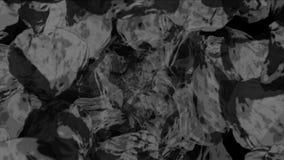 4k meteorytu kopalnictwa kamienia bębnowania przestrzeni wszechświat, węglowe rudne gruz cząsteczki ilustracja wektor