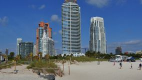4k Miami Beach tilting up stock video