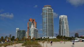 4k Miami Beach tourist scene stock video