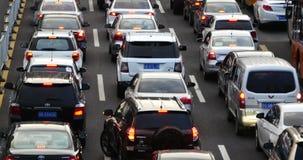 4k Modern urban city busy heavy traffic jams,A lot of cars on highway street. Transportation travel road.  gh2_08354_4k stock video footage
