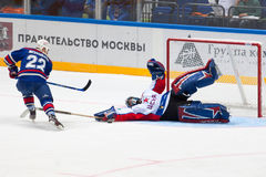 K. Molodtsov (22) attack I. Mukhometov (90) Royalty Free Stock Photo