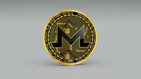 4k Monero coin XMR Crypto Currency Logo 3D rotate finance monetary business. 4k Monero coin XMR Crypto Currency Logo 3D rotates finance monetary business royalty free illustration