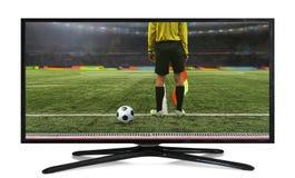 4k monitor isolated on white Stock Images