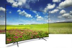 4k monitor op wit royalty-vrije stock afbeeldingen