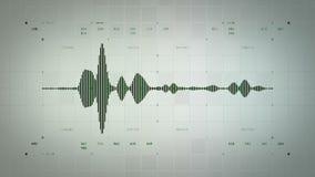 4K Mono Zielony Lite Audio Waveform ilustracji