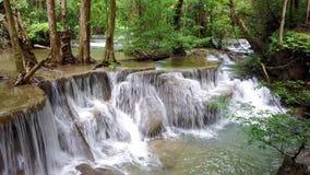 4k motion slide on beauty waterfall stock footage