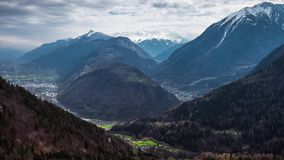 4K Mountain Timelapse in Switzerland stock footage