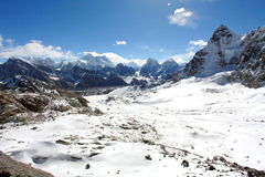 4K. Movement of the clouds on the mountains Everest, Renjo Pass. Himalayas stock video footage