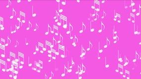4k Music Notes background,symbol melody melody sound,romantic artistic symphony. stock video
