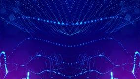4k naadloze 3d animatie als achtergrond sc.i-FI met gloeddeeltjes en diepte van gebied, bokeh en lichteffecten glowing royalty-vrije illustratie