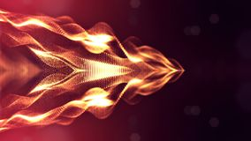 4k naadloze 3d animatie als achtergrond sc.i-FI met gloeddeeltjes en diepte van gebied, bokeh en lichteffecten glowing stock illustratie