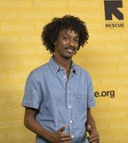 K`naan. Somali Canadian poet, rapper, musician and entertainer K`Naan arrives at the International Rescue Committee`s 2017 Freedom Award Dinner.  The annual Royalty Free Stock Images