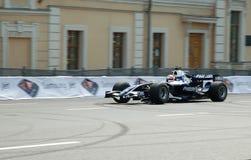 K. Nakajima driving his F-1 in Moscow 2009. K. Nakajima driving his F-1 car at the Bavaria Moscow City Racing Stock Photo