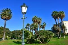 Napoli Capodimonte. 4K Naples, Capodimonte, Royal Palace, park with palm trees and walking boulevards Stock Photo