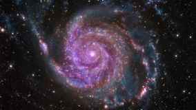 4K NASA Cinemagraph Collection - M101 Spiral Galaxy. Seamless loop stock footage