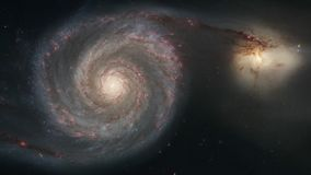 4K NASA cinemagraph collection - M51 whirlpool galaxy with companion. 4K NASA cinemagraph collection - M51 whirlpool galaxy with NGC 5194 companion galaxy stock footage
