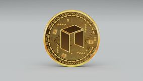 4k NEO coin Crypto Currency Logo 3D rotate finance monetary business. 4k NEO coin Crypto Currency Logo 3D rotates finance monetary business animation vector illustration