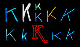 K Neon Letters Royalty Free Stock Image