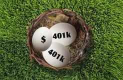 401K Nestegg Imagem de Stock Royalty Free