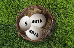 401K Nestegg. Royalty Free Stock Image