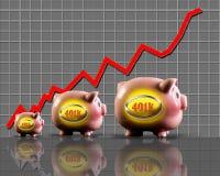 401K Nestegg making money. Stock Images