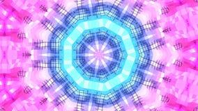 4k nettoient le fond animé kaléïdoscopique géométrique dans la boucle, bas poly style Animation 3d sans couture avec le gradient  illustration libre de droits