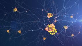 4K neuronenactiviteit royalty-vrije illustratie