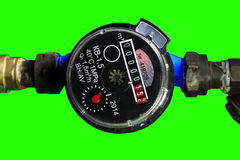 4K. New water meter with green screen, Ultra HD stock video